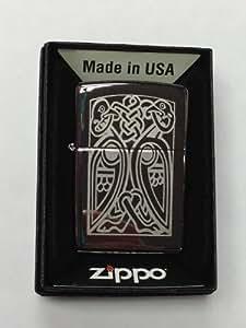 Keltisches Design Chrom poliert Zippo echtem