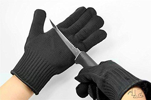 1x Paar Edelstahl-Filetierhandschuh Schnittschutz Handschuhe