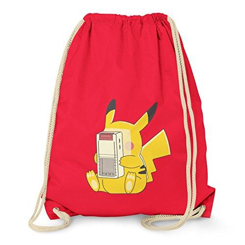 Turnbeutel, rot (Pikachu Anzug)