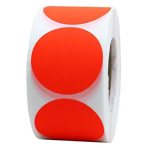 hybsk 3,8cm fluoreszierende blanko rot Target Pasters für Shooting 500selbstklebend Target Aufkleber pro Rolle (Shooting Target-papier)