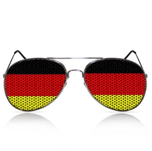 Partybrillen beklebte Pilotenbrillen bedruckte Sonnenbrillen Promotionbrillen Fanartikel WM -...