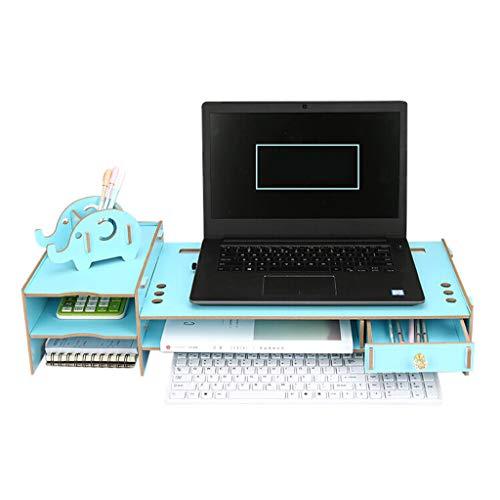 MMM Bildschirmständer Laptop Bildschirm vergrößern Standfuß Büro-Desktop-Tastatur-Speicherstand mit kann den Computermonitor erhöhen, um Bogen zu verhindern