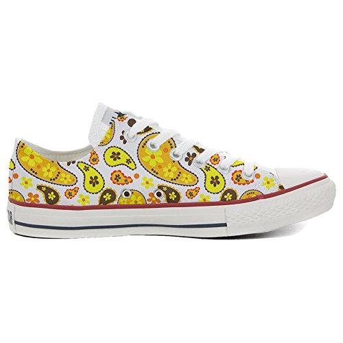 Converse All Star personalisierte Schuhe (Handwerk Produkt) Hippie Paisley Size 46 EU