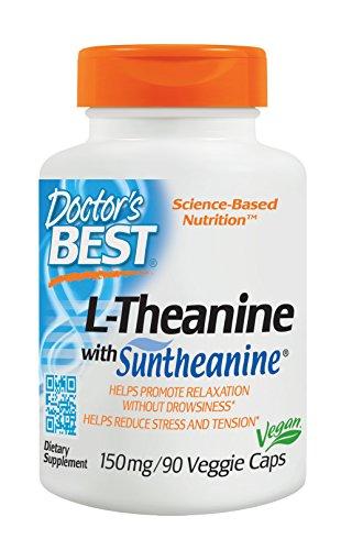 Doctor's Best, L-Theanine mit Suntheanine, 150mg, 90 Veg. Kapseln