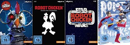 Robot Chicken Staffel 1+2 + Star Wars Trilogie + DC Comics Special 1-3 [DVD Set] (Wars Star 1 Dvd Staffel)