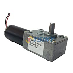 TSINY Reversible 12V Electrical DC Worm Gear Motor 260 RPM High Speed with Metal Geared Box Reducer Output Shaft 8mm