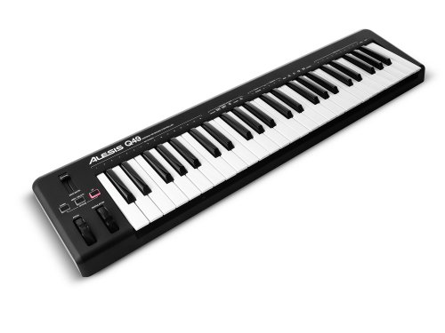 photo Alesis Q49   Clavier Maître USB MIDI 49 Touches Dynamiques et Sensibles + Logiciels Ableton Live Lite & Ignite inclus
