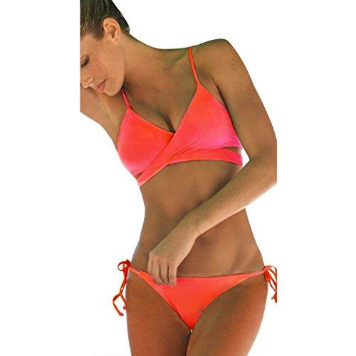 TWIFER Damen Push Up Bandage Bikini Set, Triangel Badeanzug Bunt