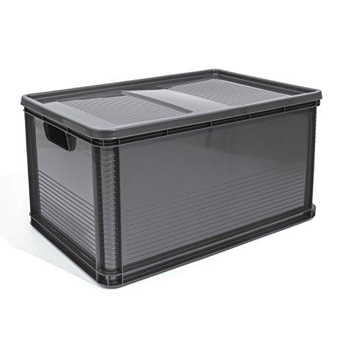 Euro Box Stapelbox Transportbox mit Deckel geschlossene Obstbox Gewerbekiste Lager ()