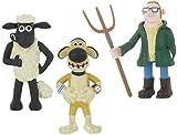 Shaun the Sheep - Set 3 Figures Shaun Bitzer Farmer ca. 7 - 9, 5 cm