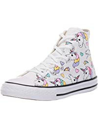36705737c095 Converse Scarpe Kids Sneaker a collo Alto Chuck Taylor All Star in Tela  Bianca 663994C