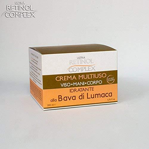 Crema Viso Idratante Rigenerante Antirughe alla Bava di Lumaca con Olio di Canapa e Retinolo - snail cream ultra lift giorno e notte