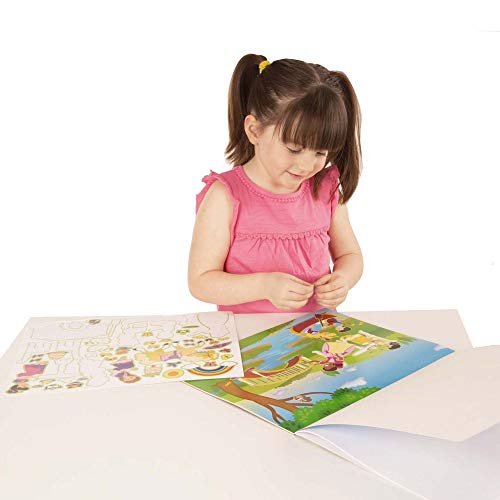 Melissa And Doug Reusable Sticker Pad Princess Castle 200 Stickers And 5 Scenes