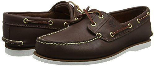 Timberland Classic 2 Eye, Men's Boat Shoes, Brown, 6.5 UK