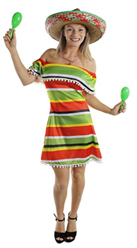 Ladies Mexican Fiesta Dress, choice of sizes.