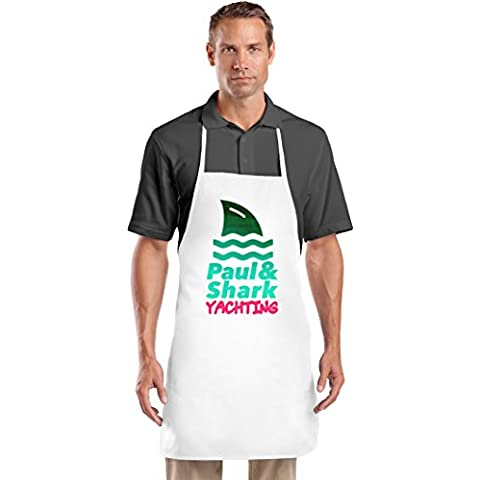 Paul & Shark Yachting Grembiule da Cuoco Top Quality Chef's Apron| Custom Printed| Available In 2 Sizes For Women & Men| 100% Durable Polyester| Premium Kitchen Supplies For Bars/Bistros & Home By Hamerson