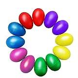 Rasseleier Baby,BEETEST Egg Shaker 12 STÜCKE Tragbare Kunststoff Percussion Musical Egg Maracas Eier Shakers Kid Kinder Ei Shaker Frühen Bildungsinstrument Spielzeug Zufällige Farbe