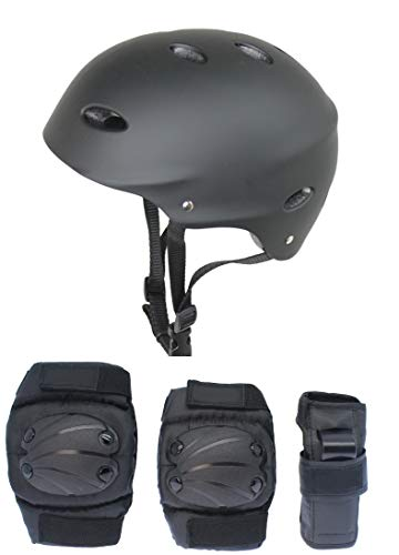 HIKS Products Kids Skate Helmet & 6 Piece Pad Set Ideal for Bmx, Skateboard, Skates And Stunt Scooters Age Guide 3-8 years