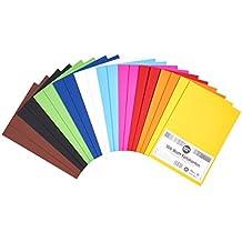 perfect ideaz 100 Blatt DIN-A5 Foto-Karton bunt, Bastel-Papier, Bogen durchgefärbt, 10 verschiedene Farben, 300g/m², Ton-Zeichen-Pappe zum Basteln, buntes Blätter-Set farbig, DIY-Bedarf