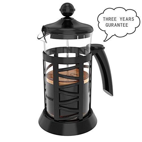 Sailnovo Kaffeebereiter 1000ML/French Press und Teebereiter mit Edelstahlfilter / für herrlichen aromatischen Espresso oder Tee/ Schenell Einfache genißen/Aroma-Genuss durch den Coffee Ma