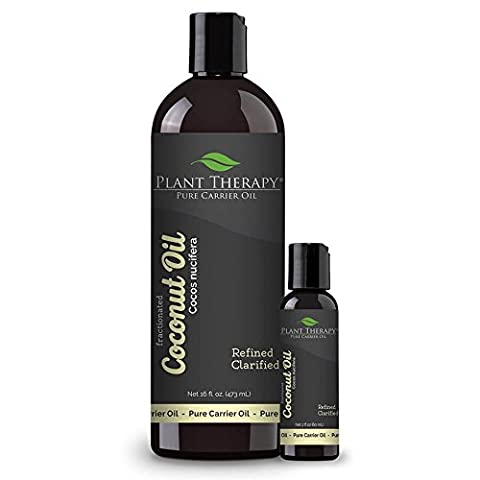 Coconut (Fractionated) Carrier Oil. A Base Oil for Aromatherapy, Essential Oil or Massage use. (16 oz Plus 2