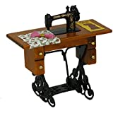 bismarckbeer Vintage Mini Sewing Machine DIY Decoration Accessory for Barbie Dollhouse