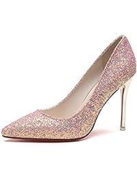 Las Mujeres de Moda de tacón de Aguja Zapatos Agujas Tacones de Lentejuelas  Bling Bombas de 8c73bed17408