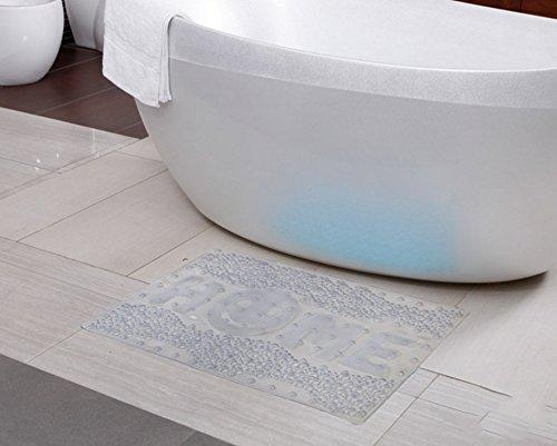 Tapis de bain de juillet Tapis de bain Tapis de bain Tapis de bain Matelas de salle de bain Ottomans (Couleur : Blanc)