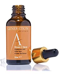 Generation Skincare Vitamin C Serum Face Cream with Hyaluronic Acid - Best Anti Wrinkle & Anti Aging Skin Primer For Women - Helps Remove Scars & Acne - Made in the UK With An All Natural Formula