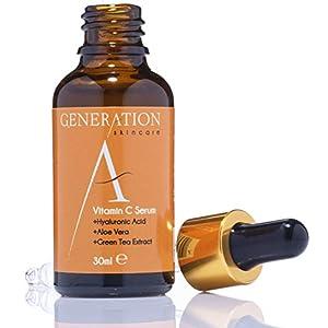 Generation Skincare – Serum Facial Vitamina C y Ácido Hialurónico – El Mejor Serum Vitamina C y Acido Hialuronico – Antimanchas, Antiarrugas, Antiedad y Antiacne – Elaborado Con Una Fórmula Natural