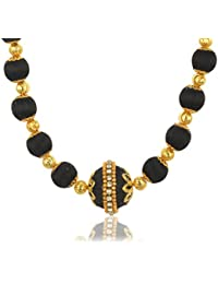 Shyla's Creations Black & Gold Plastic & Silkthread Strand Necklace For Women