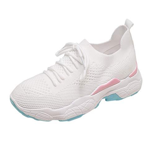 befe88e7e35389 WOZOW Scarpe da Donna Scarpe Sportive Sneaker Primavera Estate Piattaforma  Casuale Maglia Gli Sport in Esecuzione
