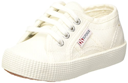 Superga Unisex-Kinder 2750-cotbumpj Sneaker, Weiß (White), 32 EU (Jungen-canvas-schuhe)