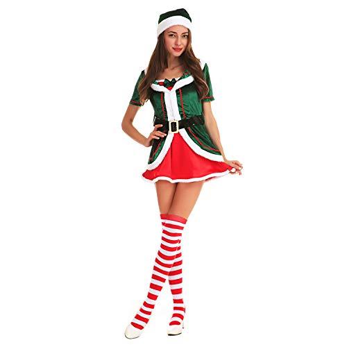 ten Kostüm Elfenkostüm Unisex Erwachsene Kinder Weihnachten Kostüm Klein Kind Jungen Mädchen Familien Elf Outfit Party Rollenspiel Kostüm ()