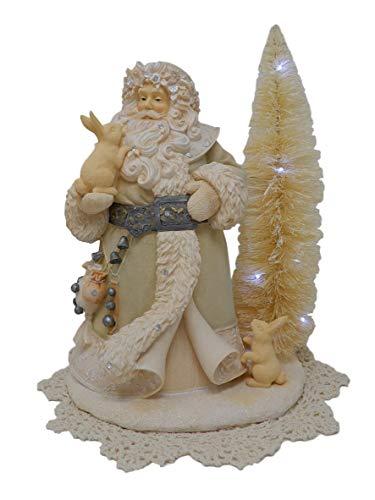 Foundations Holiday Figur mit Westbraid Deckchen Santa Spirits Be Bright, 6001151 -