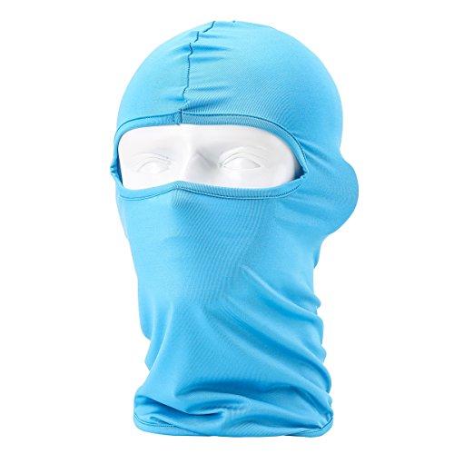 Passamontagna Unisex-Attrezzature Sportive Antivento Antipolvere Sottocasco Balaclava Regolabile Maschera Facciale per Equitazione,Blu