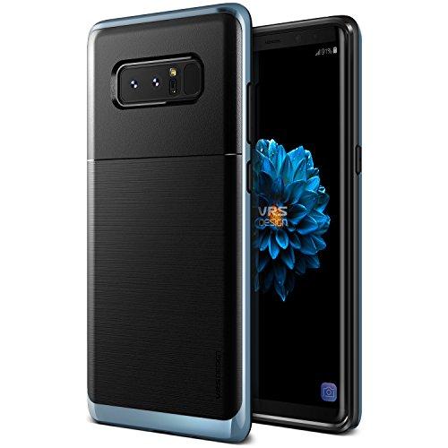 Samsung Galaxy Note 8 Hülle, VRS Design® Schutzhülle [Schwarz+Blau] Schlagfesten Stoßstangen Silikon und TPU Bumper Case Kratzfeste Schlanke Handyhülle [High Pro Shield] für Galaxy Note 8 (2017)