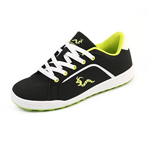 Woodworm Golf Surge V3 Mens Waterproof Golf Shoes Black/Neon Size 7