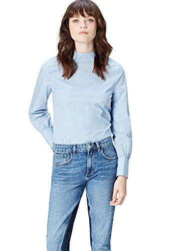 FIND Blusa de Manga Larga para Mujer , azul, 48 (Talla del Fabricante: XXX-Large)