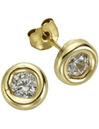 Fascination by Ellen K. - F216320014 - Boucles d'Oreilles Femme - Or jaune 333/1000 (8 carats) - Oxyde de Zirconium