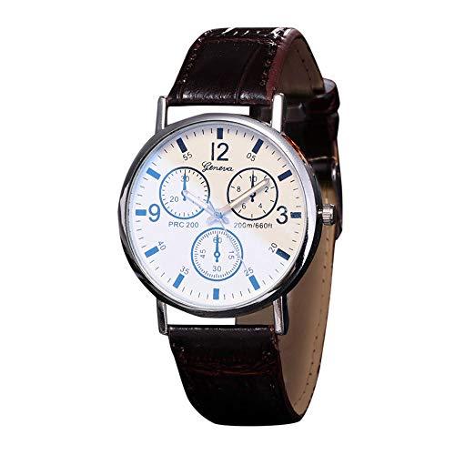 Uhren Unisex Armbanduhr Watches Leder Stainless Herren Damen Stehlen Analog Quartz Wrist Watch Luxus Uhrenarmband Exquisit Uhr,ABsoar