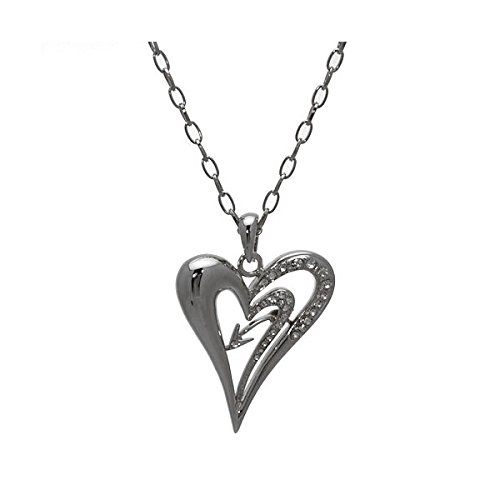 carefree-silver-tone-crystal-heart-necklace