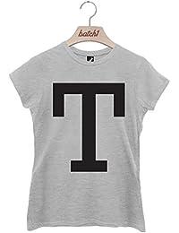 Batch1 Alphabet Large Letter Fashion Slogan Womens T-Shirt Personalised Letter T