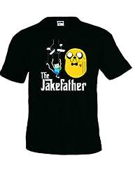 Camiseta Hora de Aventuras Jake Father manga corta (Talla: Talla L Unisex Ancho/Largo [56cm/74cm] Aprox])