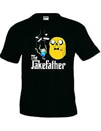 Camiseta Hora de Aventuras Jake Father manga corta (Talla: Talla L Unisex Ancho/