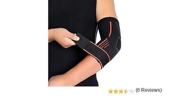 PerGrate 1 Pcs Respirant Tissage Coude Support Brace Pressuris/é En Plein Air Coudi/ères Strap pour Sport Fitness