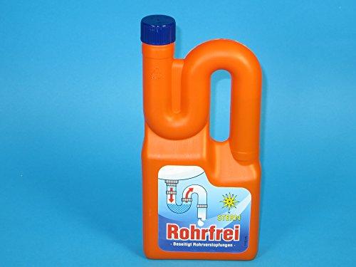 10x 1l Flasche Stern Rohrfrei Abflussfrei Rohrreiniger Abflussreinger Großpackung