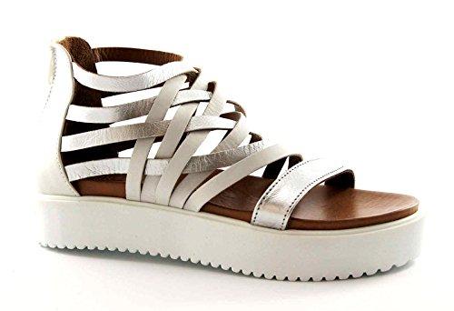 INUOVO TJILL'S 6246 silver white footlights sandali donna platform schiava 39