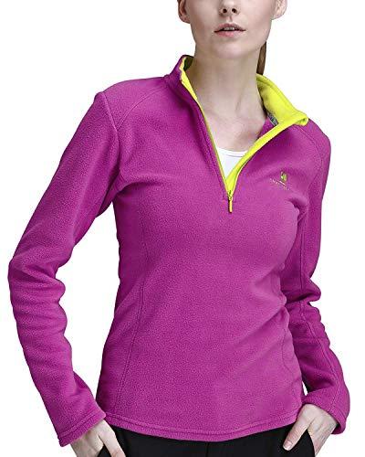 CAMEL CROWN Fleecejacken Damen Top Half Zip Fleece Sweatshirts für weibliche Fleece-Sweatshirt Extra Large Fleece-Sweatshirt - Polyester-microfleece Half Zip Pullover