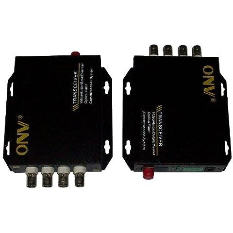 Ottica Toslink in fibra ottica, 2 ricetrasmettitori da 4 canali